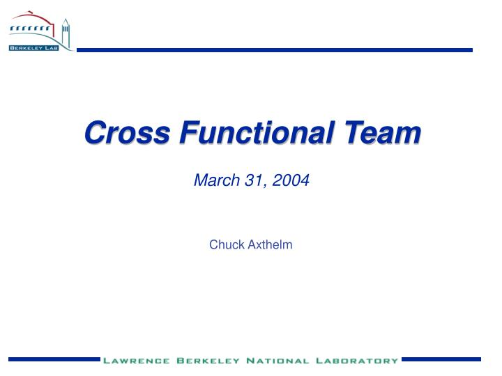Cross Functional Team