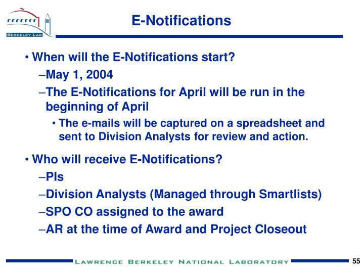 E-Notifications