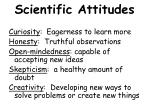 scientific attitudes