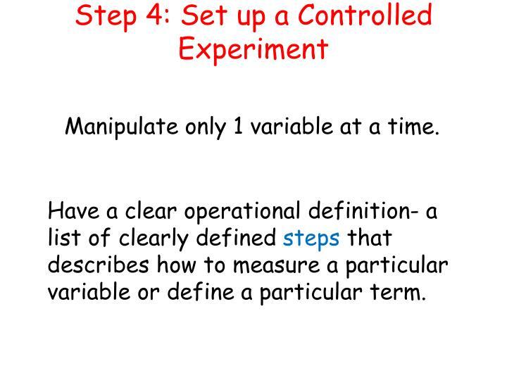 Step 4: Set