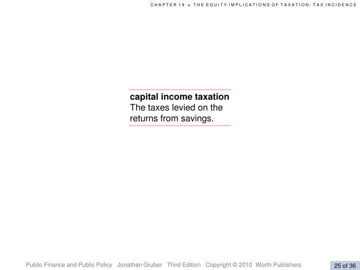 capital income taxation
