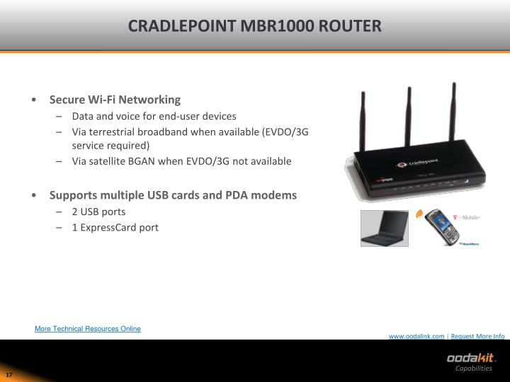 CRADLEPOINT MBR1000 ROUTER