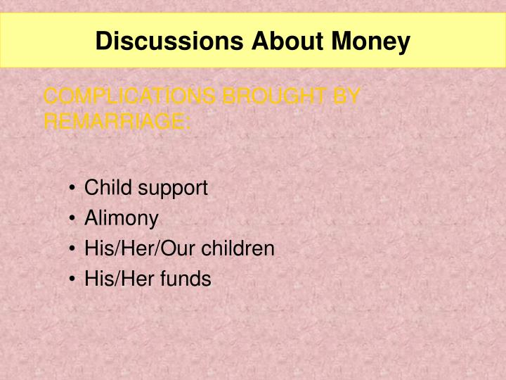 Discussions About Money