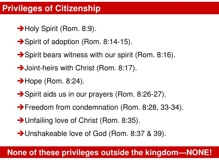 Privileges of Citizenship