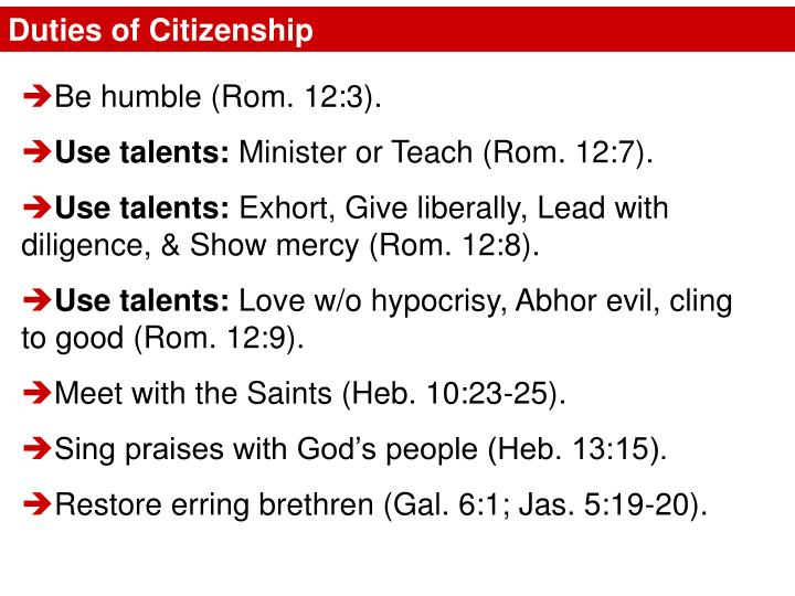 Duties of Citizenship