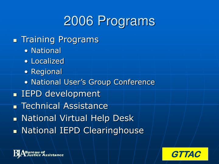 2006 Programs