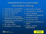 impediments to automated information sharing