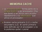 memoria cache1
