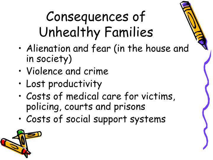 Consequences of Unhealthy Families
