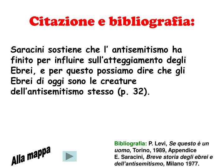 Citazione e bibliografia: