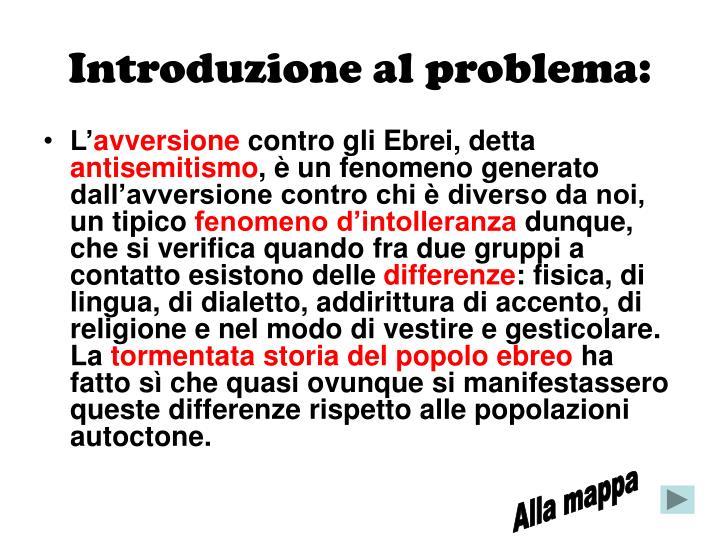 Introduzione al problema: