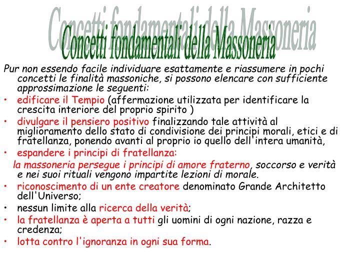 Concetti fondamentali della Massoneria