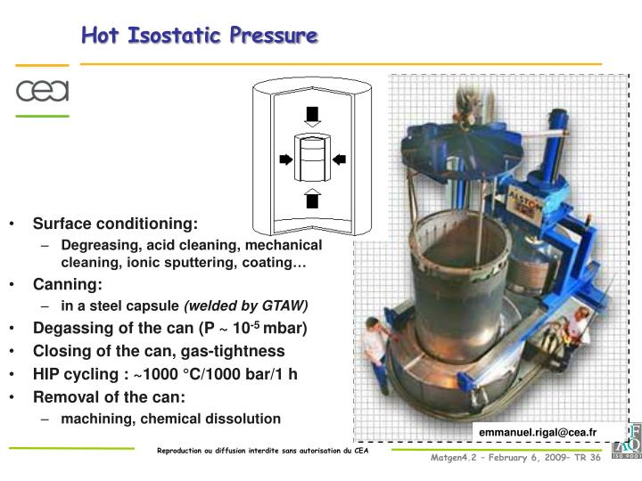 Hot Isostatic Pressure