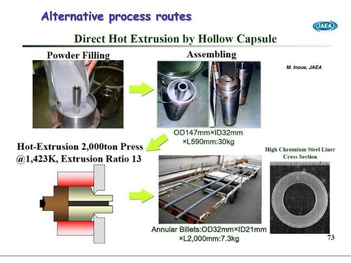 Alternative process routes