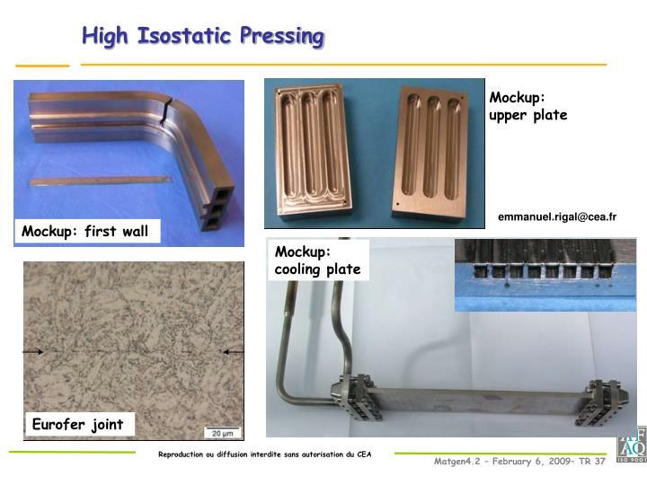 High Isostatic Pressing