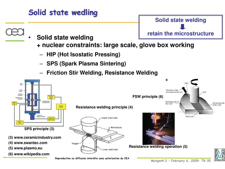 Solid state wedling