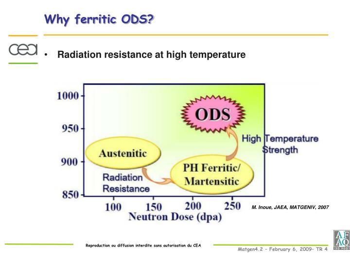 Why ferritic ODS?