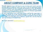 about company core team4