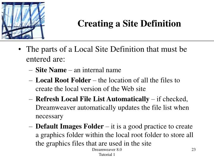Creating a Site Definition
