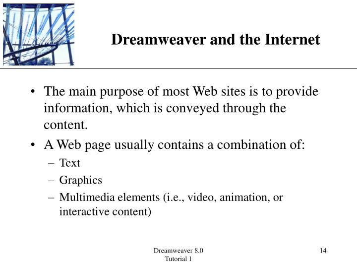 Dreamweaver and the Internet