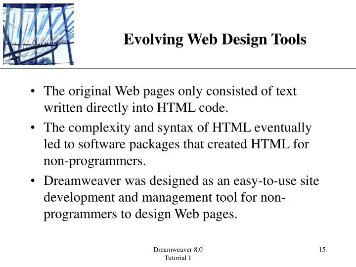 Evolving Web Design Tools