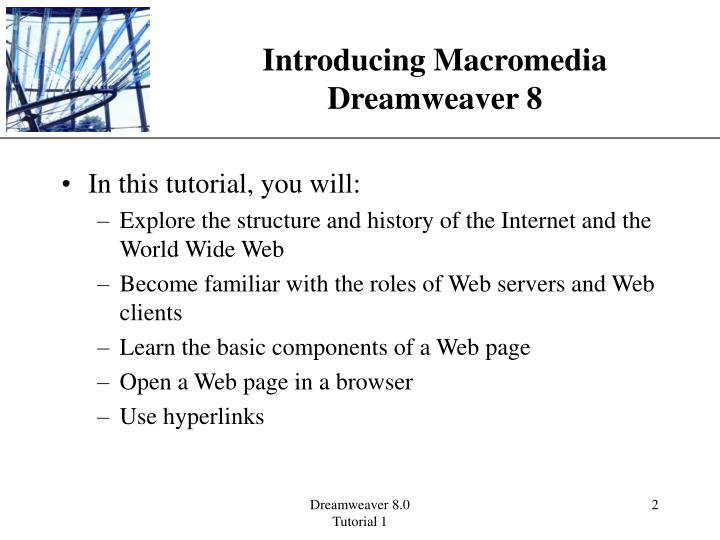 Introducing Macromedia Dreamweaver 8