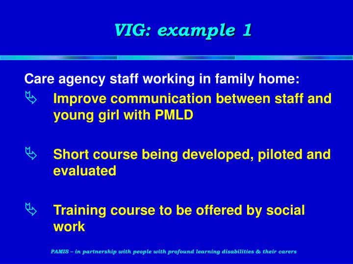 VIG: example 1
