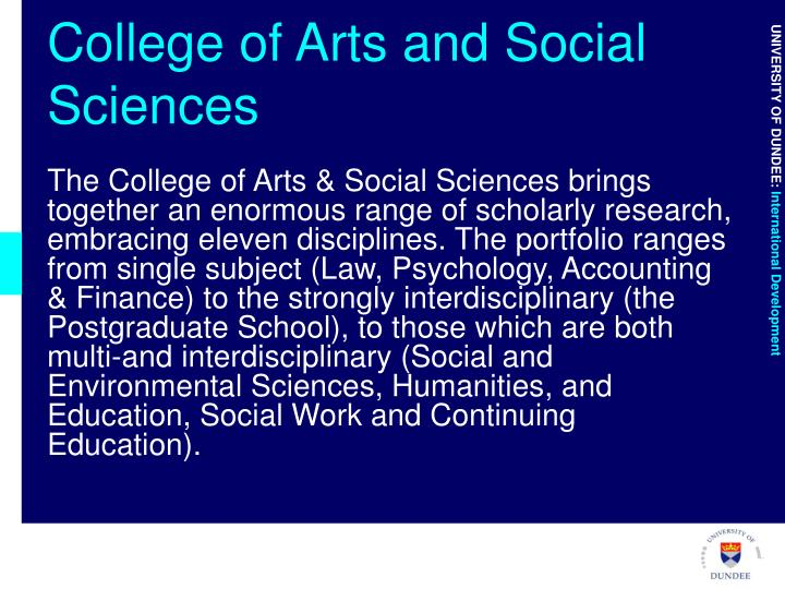 College of Arts and Social Sciences