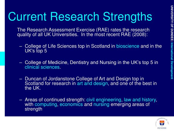 Current Research Strengths