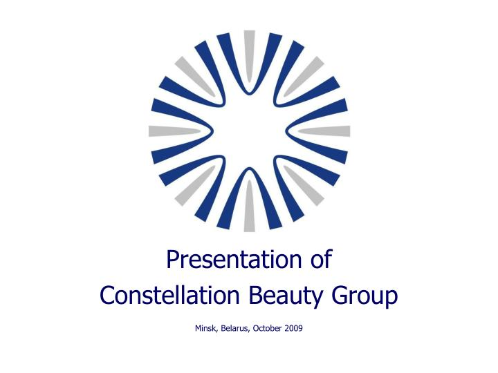 presentation of constellation beauty group minsk belarus october 2009