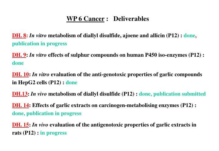 WP 6 Cancer