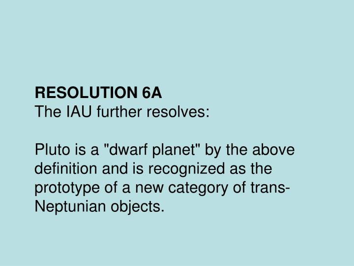 RESOLUTION 6A