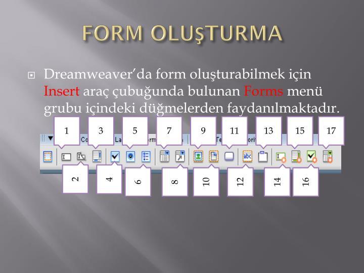 FORM OLUŞTURMA