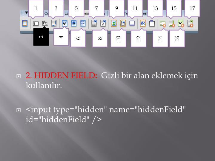 2. HIDDEN FIELD