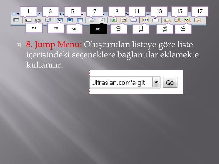 8. Jump Menu: