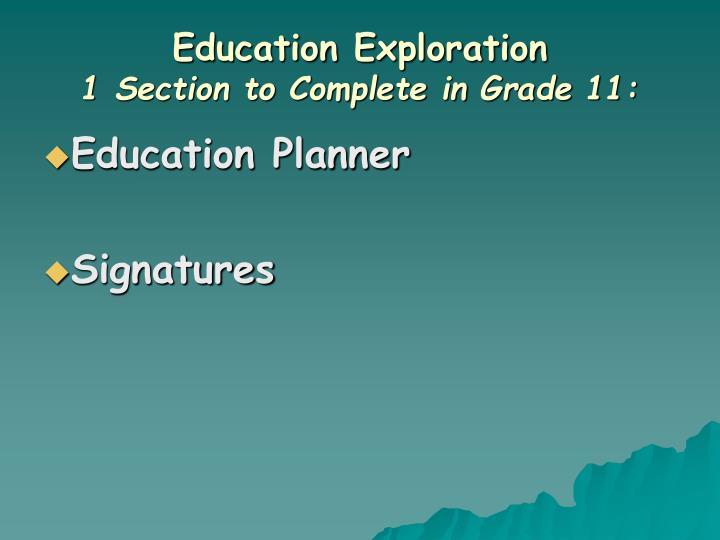 Education Exploration