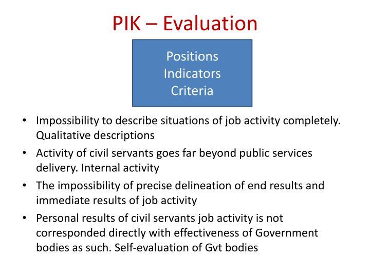 PIK – Evaluation