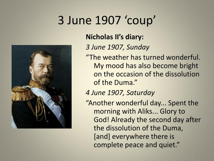 3 June 1907 'coup'