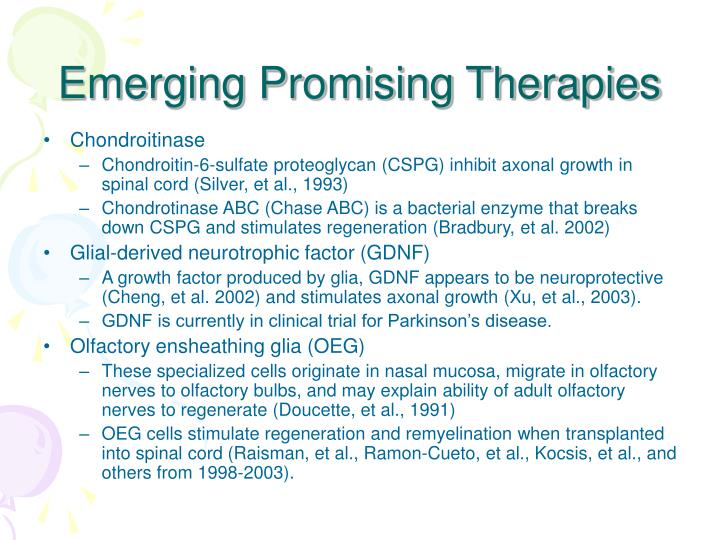 Emerging Promising Therapies