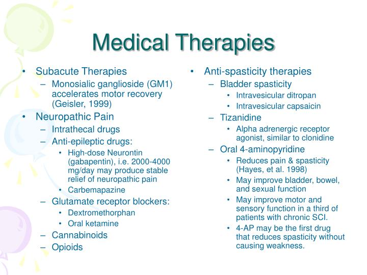 Subacute Therapies