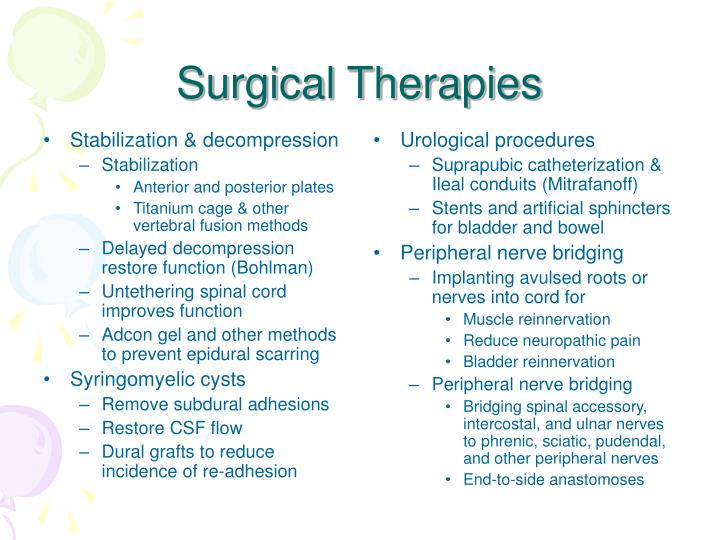 Surgical therapies