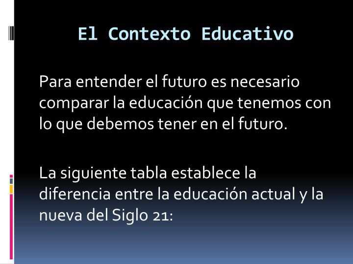 El Contexto Educativo