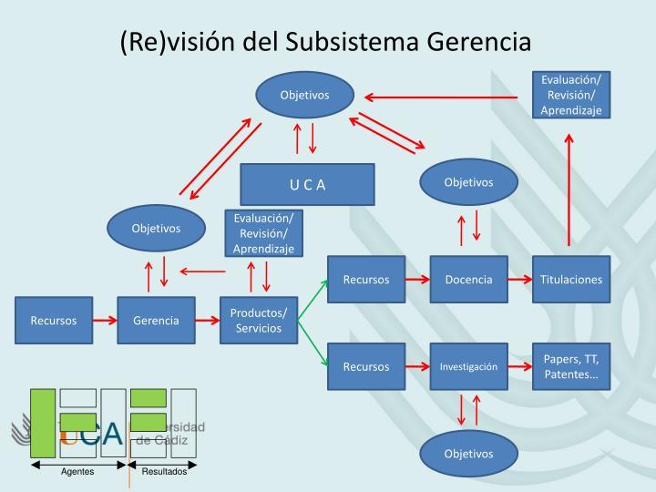 (Re)visión del Subsistema Gerencia