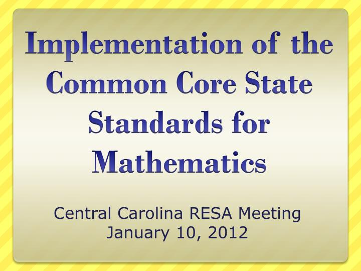 Central carolina resa meeting january 10 2012