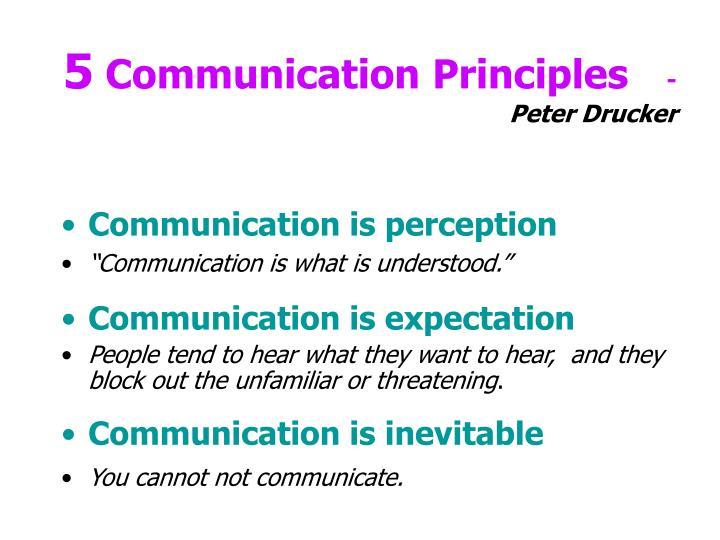 5 communication principles peter drucker