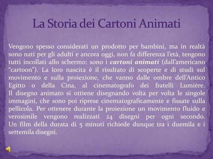 La Storia dei Cartoni Animati