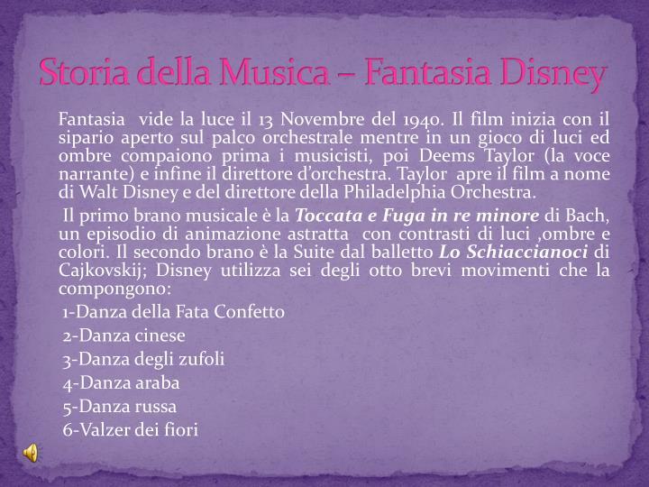 Storia della Musica – Fantasia Disney