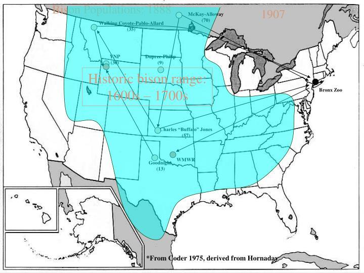 Bison Populations: 1888