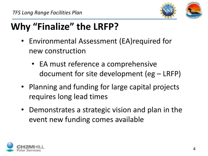 TFS Long Range Facilities Plan