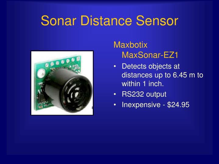 Maxbotix        MaxSonar-EZ1